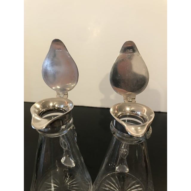 Pair of Sterling and Glass Whiskey Noggins - Birmingham 1930s For Sale - Image 4 of 7