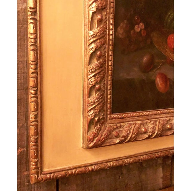 Late 19th Century Antique French Still Life Painting in Panel, Circa 1870-1890. For Sale - Image 5 of 6