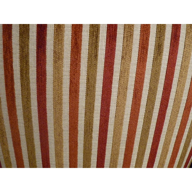 Crate & Barrel Striped Club Chair - Image 6 of 6