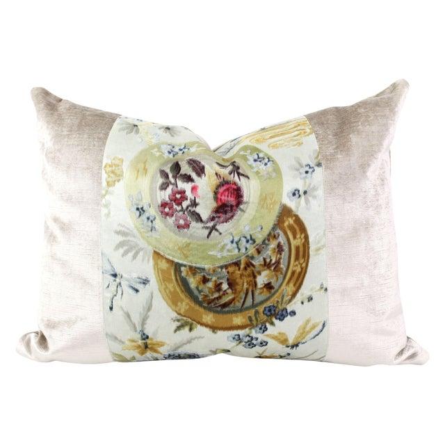 Vintage French Velvet Pillow - Image 1 of 4