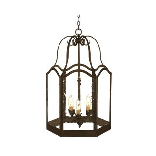 Dana Creath Handmade Wrought Iron Hanging Lantern For Sale