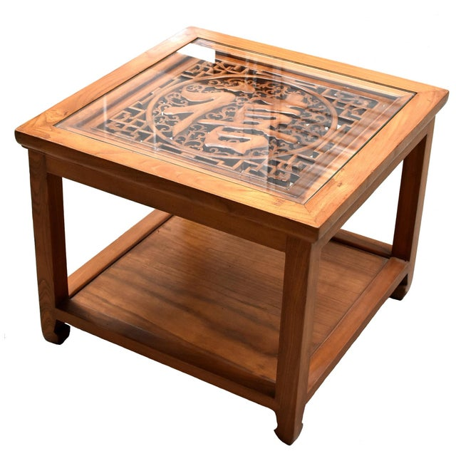 Chinese Solid Wood Coffee Table For Sale - Image 13 of 13