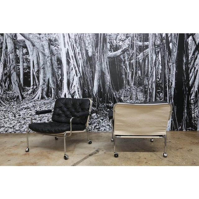 Bruno Mathsson Style Easy Chairs - a Pair - Image 4 of 5