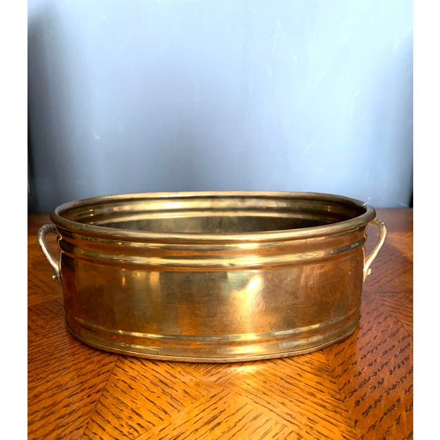 Vintage Brass Scalloped Shell Planter For Sale - Image 4 of 11