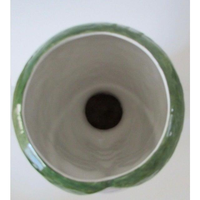 Ceramic Horchow Italian Head Vase Planter For Sale - Image 7 of 9