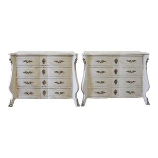 20th Century Italian Painted Wood Nightstands - a Pair