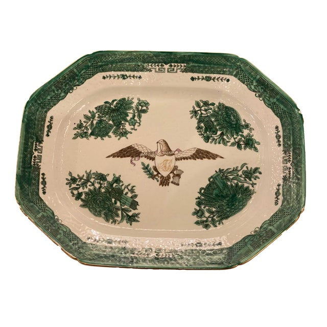 Early 20th Century Early 20th Century Green Chinese Fitzhugh Tureen and Under Plate For Sale - Image 5 of 9