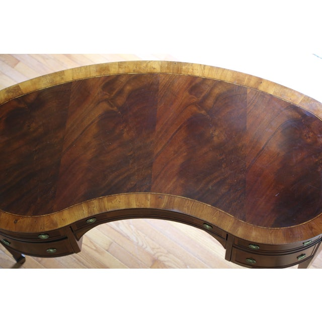 Hekman Kidney Writing Desk For Sale - Image 9 of 9