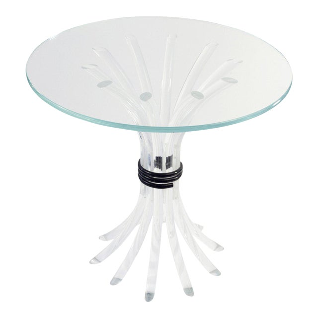 """Lucite """"Reed"""" Side Table For Sale"""