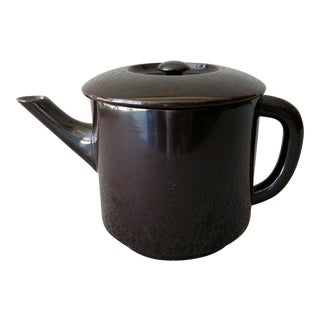 Japanese Lacquer Teapot Black For Sale