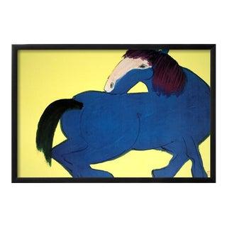 Ting Blue Horse Framed Poster