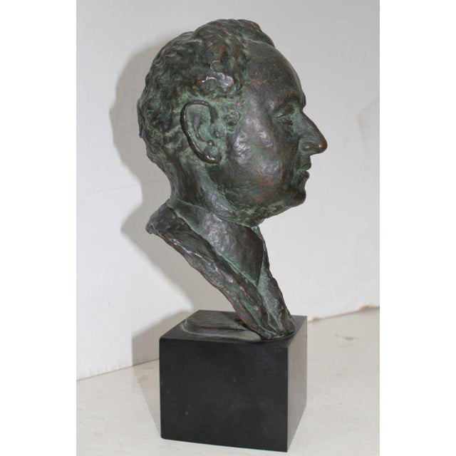 A nice bronze bust by the French artist Serge Yourievitch (1876-1969) which is likely of the czech conductor Josef...