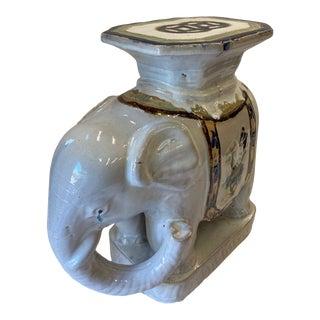 Elephant Motife Ceramic Side Table For Sale