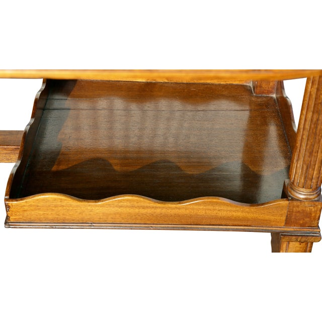 Black Regency Mahogany Writing Table For Sale - Image 8 of 13