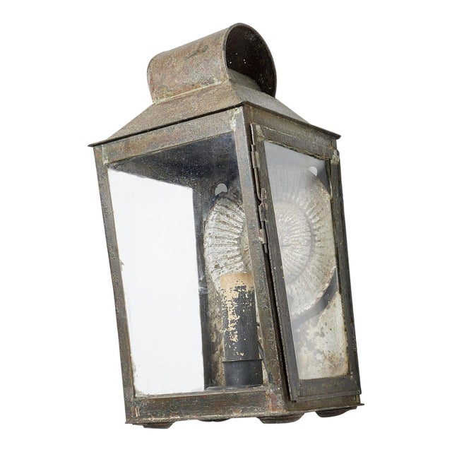 Early 19th Century Early 19th Century Painted Metal Wall Lantern For Sale - Image 5 of 5