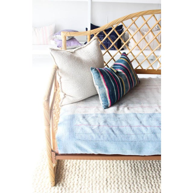 Boho Chic Rattan Daybed Frame For Sale - Image 3 of 11