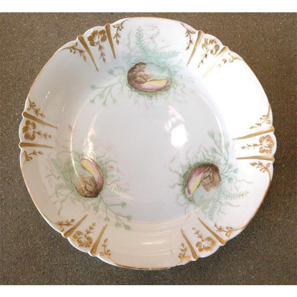 Gold Shell Decorated Dishes - Set of 6 For Sale - Image 8 of 9