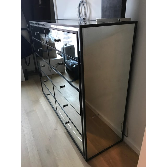 Restoration Hardware Restoration Hardware Strand 10-Drawer Mirrored Dresser For Sale - Image 4 of 6