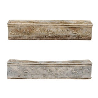 Pair of English Early 19th Century Elegantly Adorned Flower Boxes For Sale