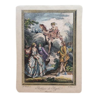 18th Century Vintage French Engraving Print by Famed Francois Boucher For Sale