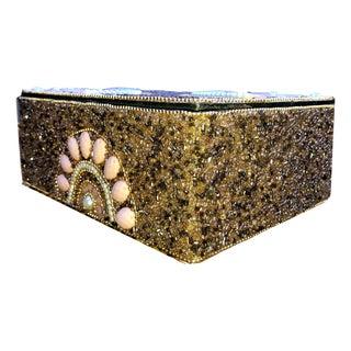 Handmade Beaded Jewelry Box For Sale