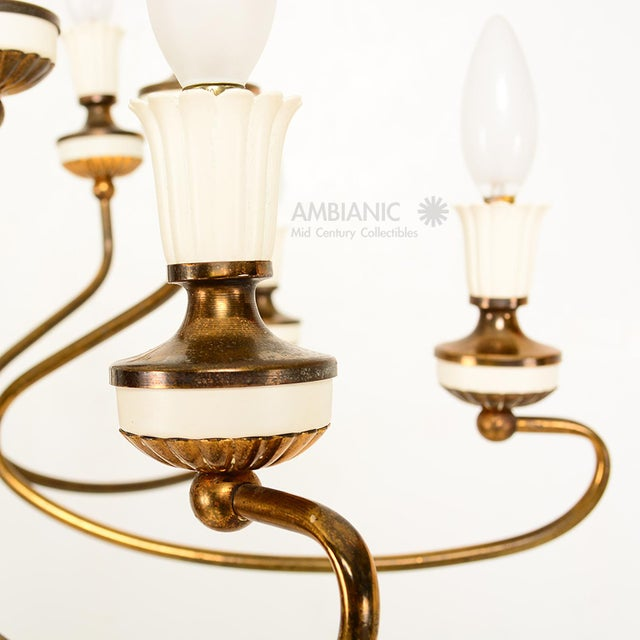 1960s 16 Arm Italian Chandelier For Sale - Image 5 of 10