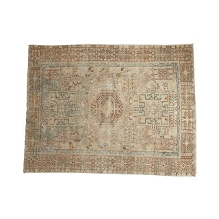 "Vintage Distressed Karaja Square Rug - 4'10"" X 6'2"""
