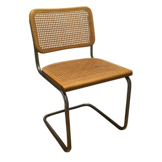 Tubular Steel Chrome Cantilever Chair For Sale