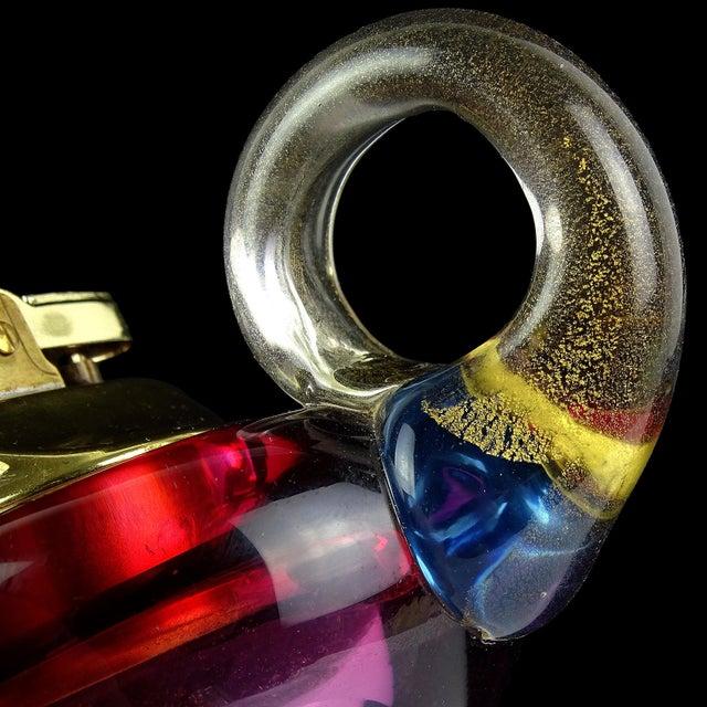 Mid-Century Modern Barbini Murano Sommerso Purple Gold Italian Art Glass Aladdin Lamp Lighter For Sale - Image 3 of 5
