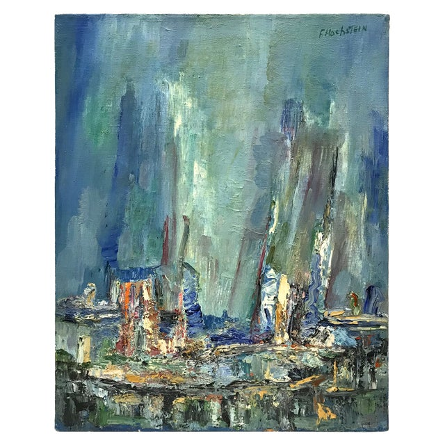 Mid-Century Modern Abstracted Seascape For Sale - Image 10 of 10