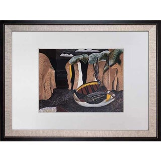 """1960s Vintage Georges Braque """"The Cliffs"""" Limited Edition Lithograph For Sale"""