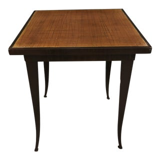 Arts and Crafts Enameled Steel Side Table For Sale