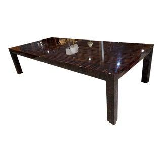 Art Deco John Boone Madagascar Zebrawood Table For Sale