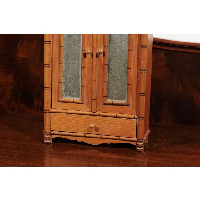 Antique French Miniature Pine Armoire For Sale In Atlanta - Image 6 of 10