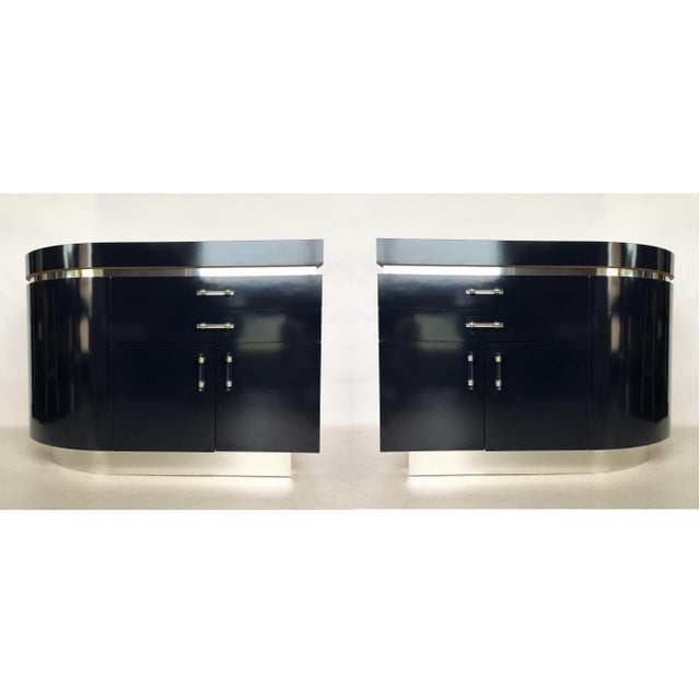 Pair of Large J. Wade Beam Nightstands For Sale - Image 11 of 11