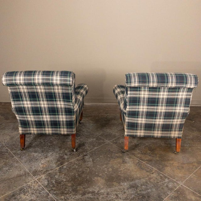 Pair Mid-Century Lounge Armchairs For Sale - Image 11 of 13