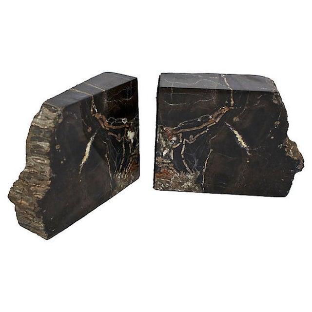 Vintage Petrified Wood Bookends For Sale - Image 4 of 10