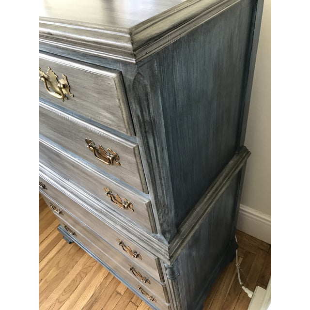 Blu & Gray Tall Boy Dresser - Image 4 of 9