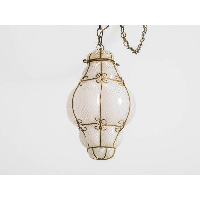 1960s handblown Murano glass lantern.