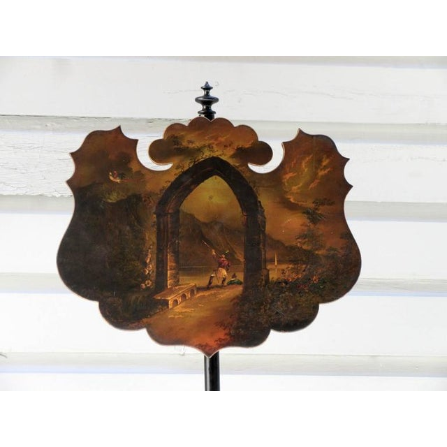 Pair of 19th Century English William IV Painted Papier Mâché Firescreeens For Sale - Image 5 of 7