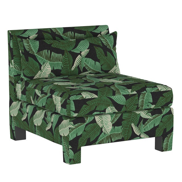 Not Yet Made - Made To Order Banana Palm Black 4 Piece Sectional For Sale - Image 5 of 9