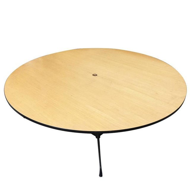 Charles And Ray Eames Round Foot Conference Table By Herman - 5 foot conference table