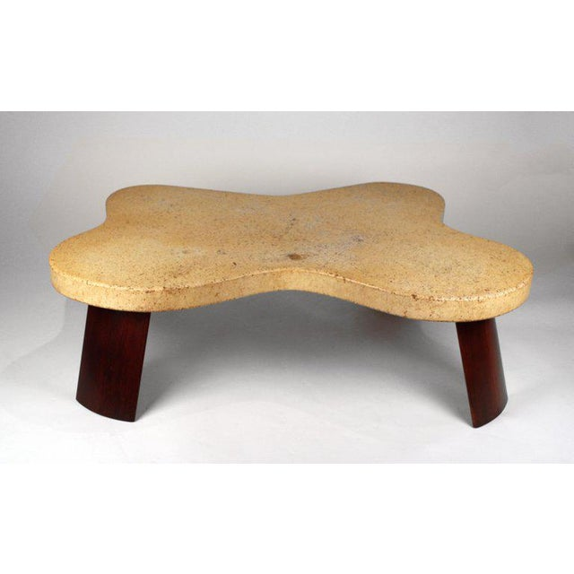 Brown Paul Frankl Cork Top Amoeba Coffee Table for Johnson Furniture For Sale - Image 8 of 10