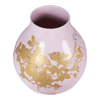 Hella Jongerius Pink and Gold Vase For Sale