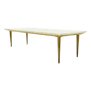 Mid Century Modern Design Table With Marble Top For Sale