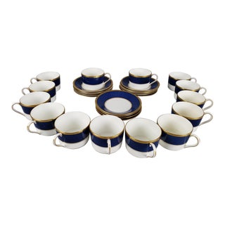 Vintage Coalport Cups and Saucers - Set of 28 For Sale