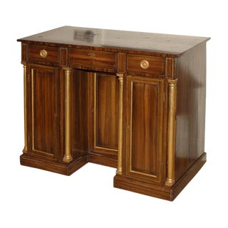 Late 19th Century English Faux Painted Rosewood and Gilt Cabinet For Sale