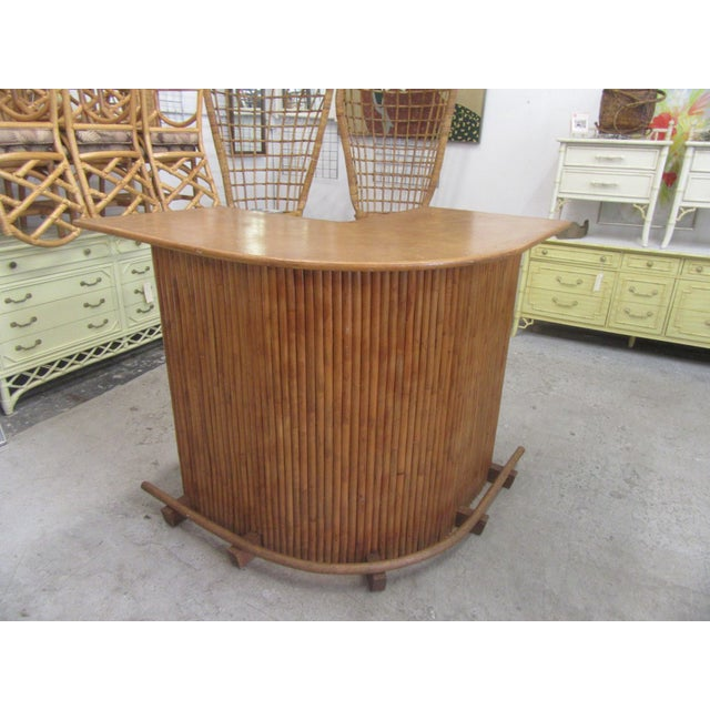 Brown 1970s Island Style Bamboo Bar For Sale - Image 8 of 8