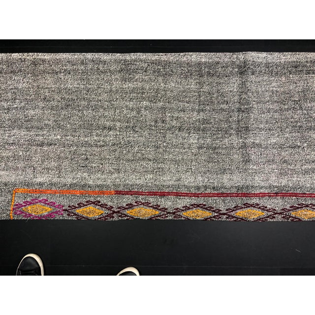 Vintage Turkish Handwoven Aztec Corridor Kilim Rug - 2′3″ × 7′3″ For Sale - Image 9 of 11