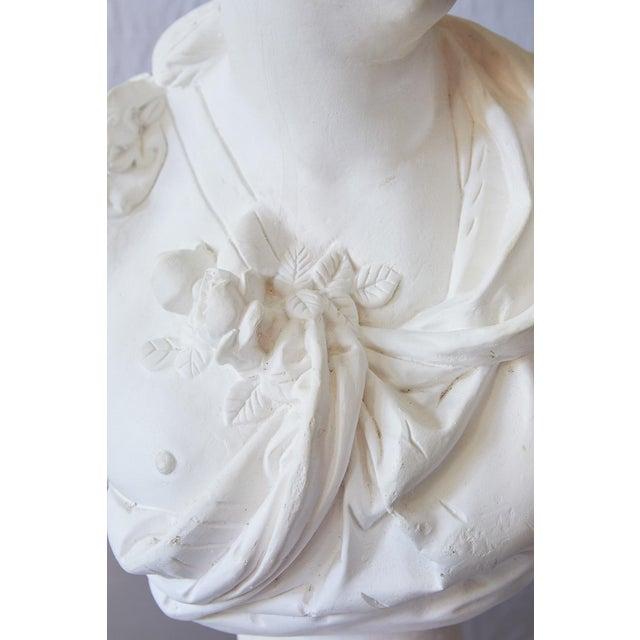 Plaster Elegant Hollywood Regency Large Plaster Bust For Sale - Image 7 of 13